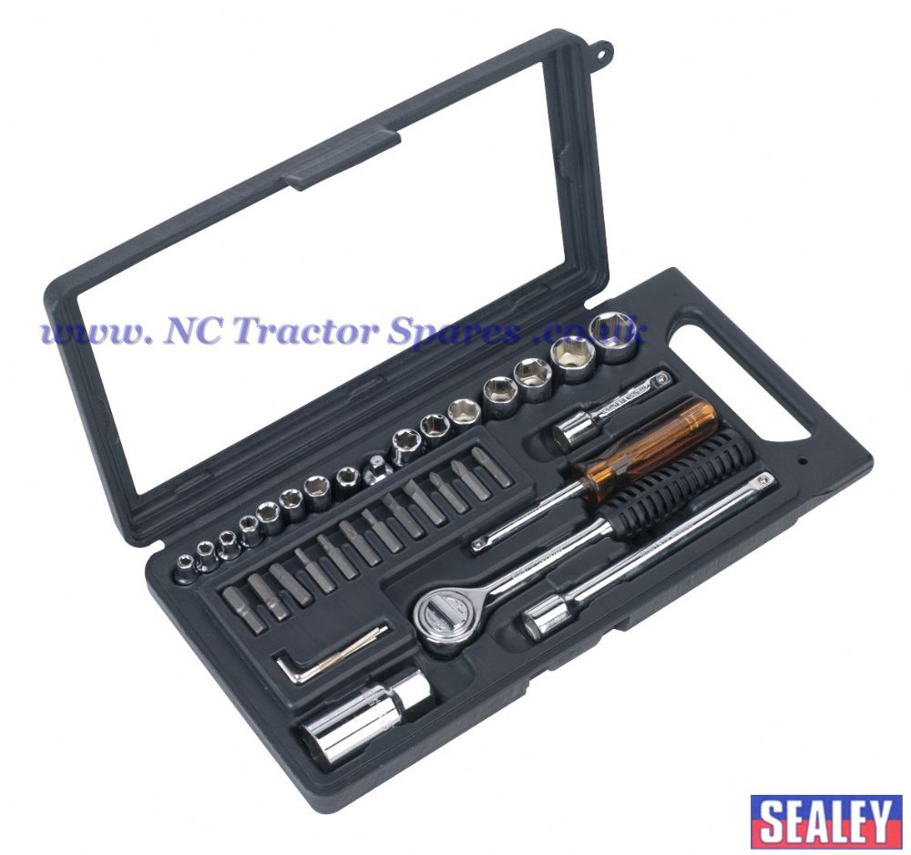 "Socket Set 36pc 1/4"" & 3/8""Sq Drive 6pt Metric"